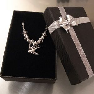 🔴SALE ! Silver bird women choker necklace